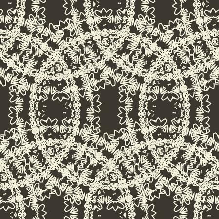 Seamless pattern circles with grunge effect. Illustration