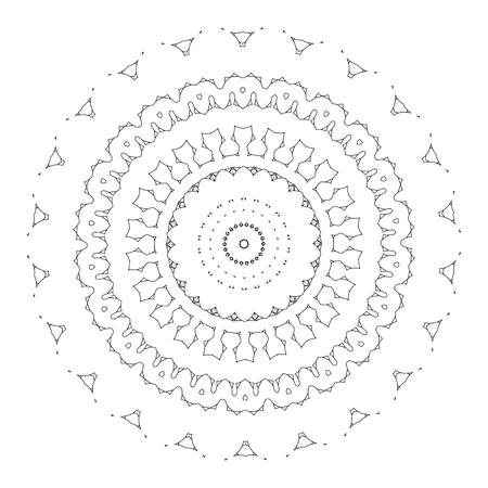 sacramental: beautiful deco black mandala, patterned design element, ethnic Amulet. Illustration