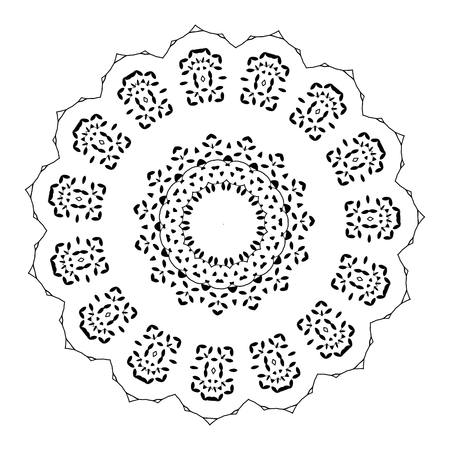 amulet: beautiful deco black mandala, patterned design element, ethnic Amulet. Illustration