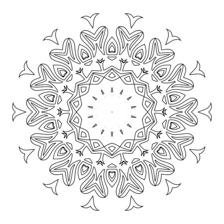sacramental: Beautiful Deco Black Mandala.