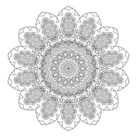 sacramental: Beautiful Deco Black Mandala