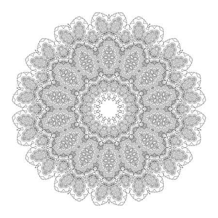 mendi: Beautiful Deco Black Mandala.