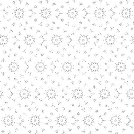 contour: Seamless Contour Floral Pattern.  Illustration