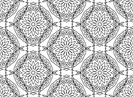 the contour: Seamless Contour Floral Pattern.