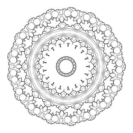 Mooie Deco Zwarte Mandala. Stock Illustratie