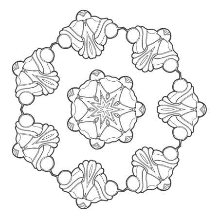 serviette: Beautiful Deco Black Mandala.