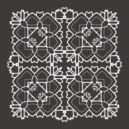 mendi: Vector Beautiful Deco Black Mandala. 10 eps