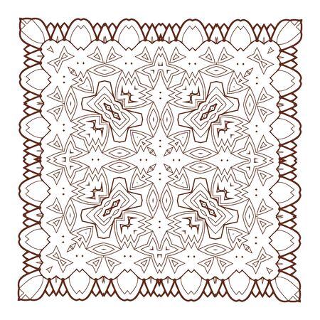 sacramentale: Vector Bella Deco Nero Mandala. 10 eps