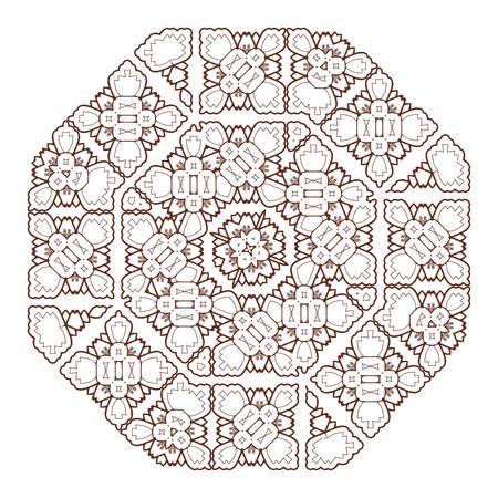 islam: Vector Beautiful Deco Black Mandala. 10 eps