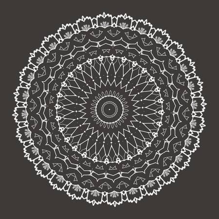 sacramental: Vector Beautiful Deco Black Mandala. 10 eps