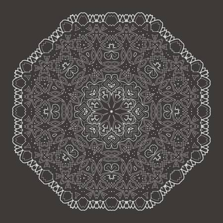 sacramental: Vector Beautiful Deco Black Mandala. 10 eps