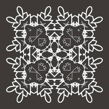 sacramental: Vector Beautiful Deco Black Mandala Illustration