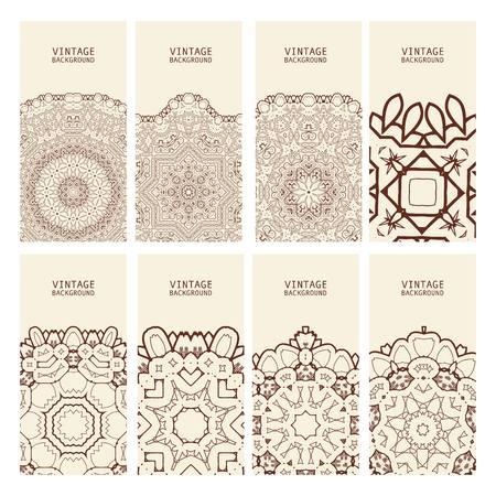 decorative elements: Cards Vintage decorative elements. 10 eps. Vector Illustration