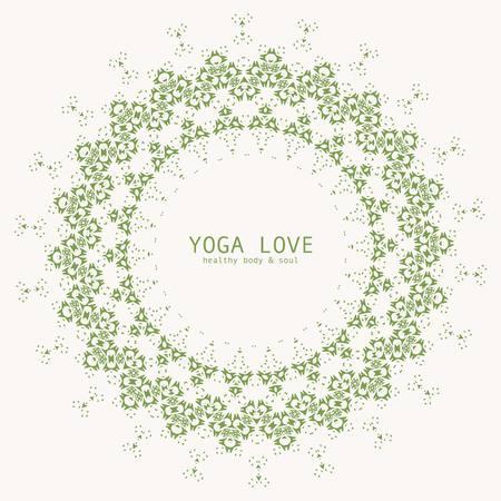 sexual chakra: Delicate Mandala vector. Vector illustration.  Illustration