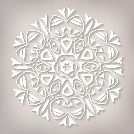 fiambres: Delicate Mandala vector. Vector illustration. 10 eps Vectores
