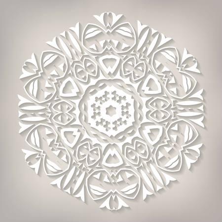 fiambres: Delicado vectorial Mandala. Ilustración del vector.