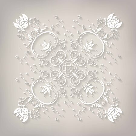 fiambres: Delicado vectorial Mandala. Ilustración del vector. 10 EPS