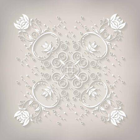 cold cuts: Delicate Mandala vector. Vector illustration. 10 eps Illustration