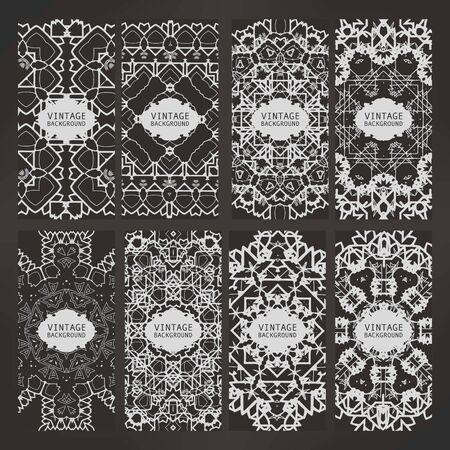 decorative elements: Cards Vintage decorative elements.
