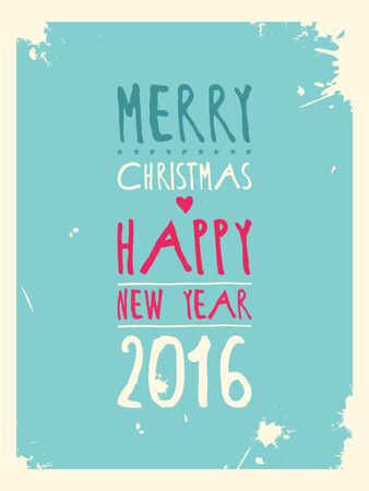 good cheer: Happy new year greeting card. Vector illustration.
