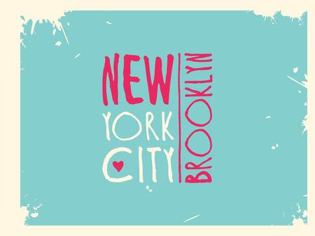 Varsity New york Brooklyn college university division team sport baseball label typography, t-shirt graphics for apparel