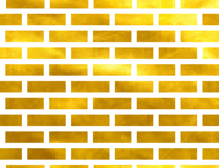 paving stones: seamless pattern of Golden bricks