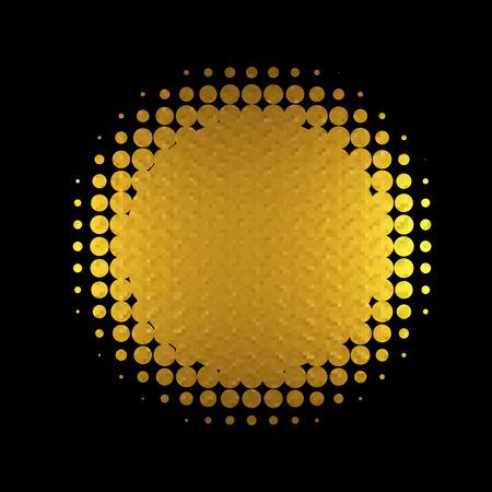 gold banner vector. vector illustration, 10 eps