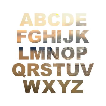 design elements: Design elements - gold 3D font. Set. Vector illustration EPS10.