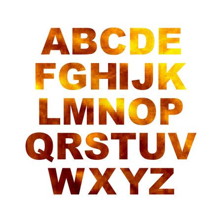 artistic design: Design elements - gold 3D font. Set. Vector illustration EPS10.