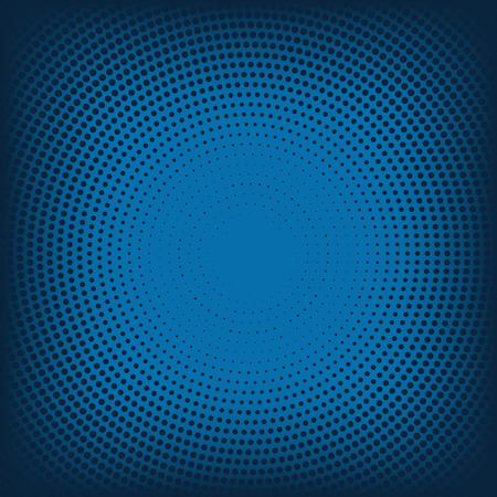 Vector abstract background from blue halftone. 10 eps  イラスト・ベクター素材