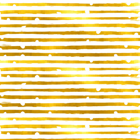 stripes seamless: Gold textured seamless pattern of golden stripes on a white background. Design element for banner, card, cutaway, invitation, postcard, booklet, flyer. Vector illustration.