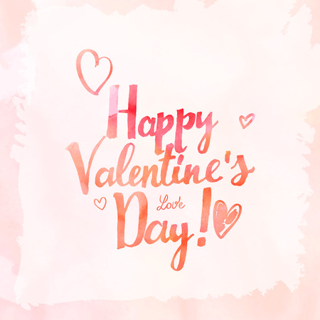 splutter: Happy Valentines day, vector illustration. 10 eps Illustration