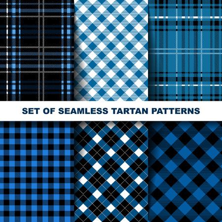 tartan: Set of seamless tartan patterns. Illustration