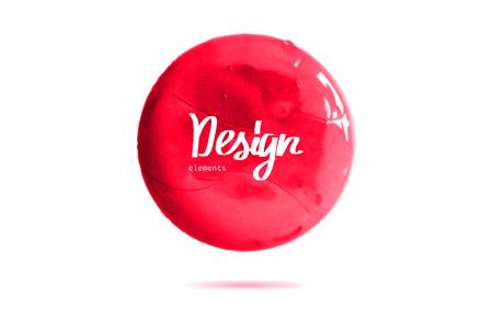 sealed: Big red grunge circle on white background. Sealed with decorative red stamp. Stylized symbol of Japan. Vector illustration. Illustration