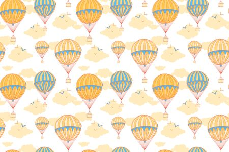 aeronautics: Background with hot air balloons. Can be used for graphic design, as well as the Wallpaper or a print on textile.