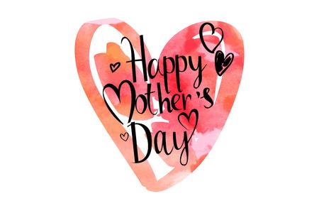 Giorno di madri mano lettering a mano calligrafia Archivio Fotografico - 54294740