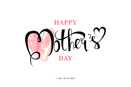 Happy Mothers Day Typographical Design Card Illustration