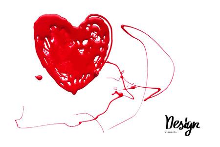 lovestruck: Ink blot look like heart. Illustration