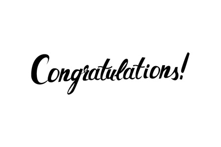 old style lettering: Congratulations original handwritten calligraphy