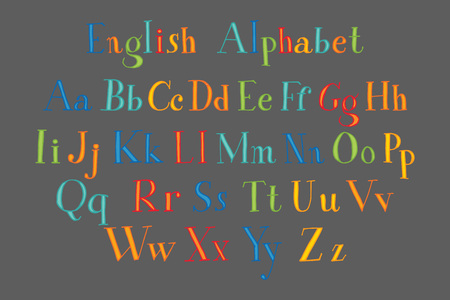 upper school: Hand cut alphabet sticker set in bright vintage colors. Good for scrap booking, school projects, posters, textiles.