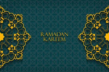 斋月问候背景。斋月Kareem意味着罗拉曼的慷慨月份