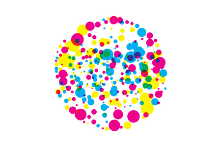 colored blots cmyk illustration.