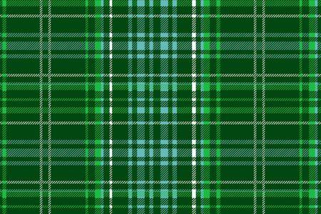 weaved: Green vector tartan inspired pattern background. Vector illustration Illustration