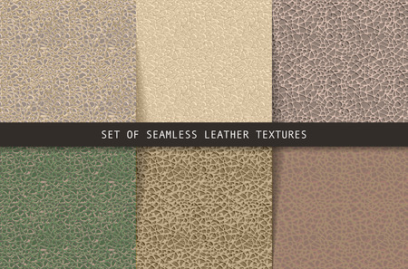 seamless leather: Set of seamless leather textures. Vector illustration. Can be used as a print for fabrics, and graphic design.