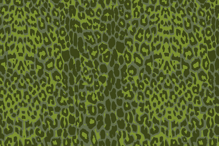 pelt: A green jaguar spotted background. Seamlessly repeatable.