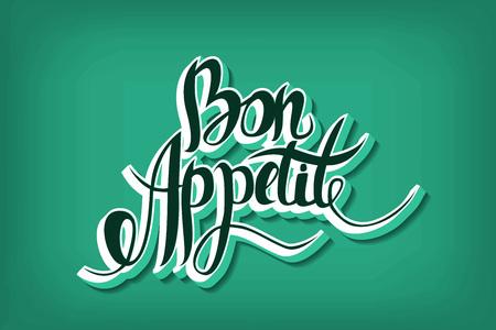 bon: Bon appetit hand drawn lettering.