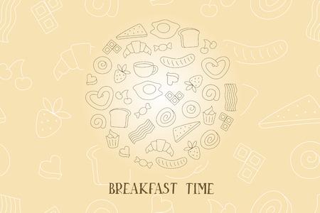 hour glass figure: Vintage Poster - Breakfast time Illustration