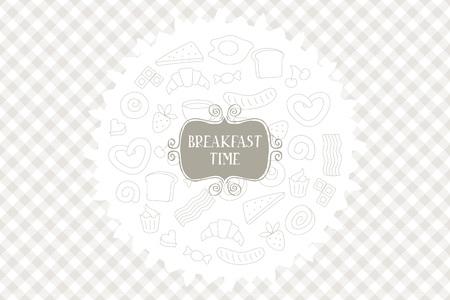 hour glass figure: Vintage Poster - Breakfast. for your design. Vector illustation Illustration