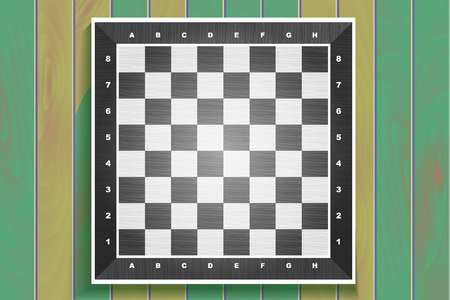 draughts: Vector chess boards on wooden background. checkers or draughts, a traditional board game with pieces in dark and light brown, vector illustration Illustration