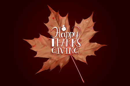 limbs: Happy Thanksgiving Day background with beautiful autumn maple leaves, can be use as flyer, banner or poster.